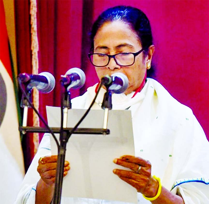 Mamata takes oath as Chief Minister for 3rd time
