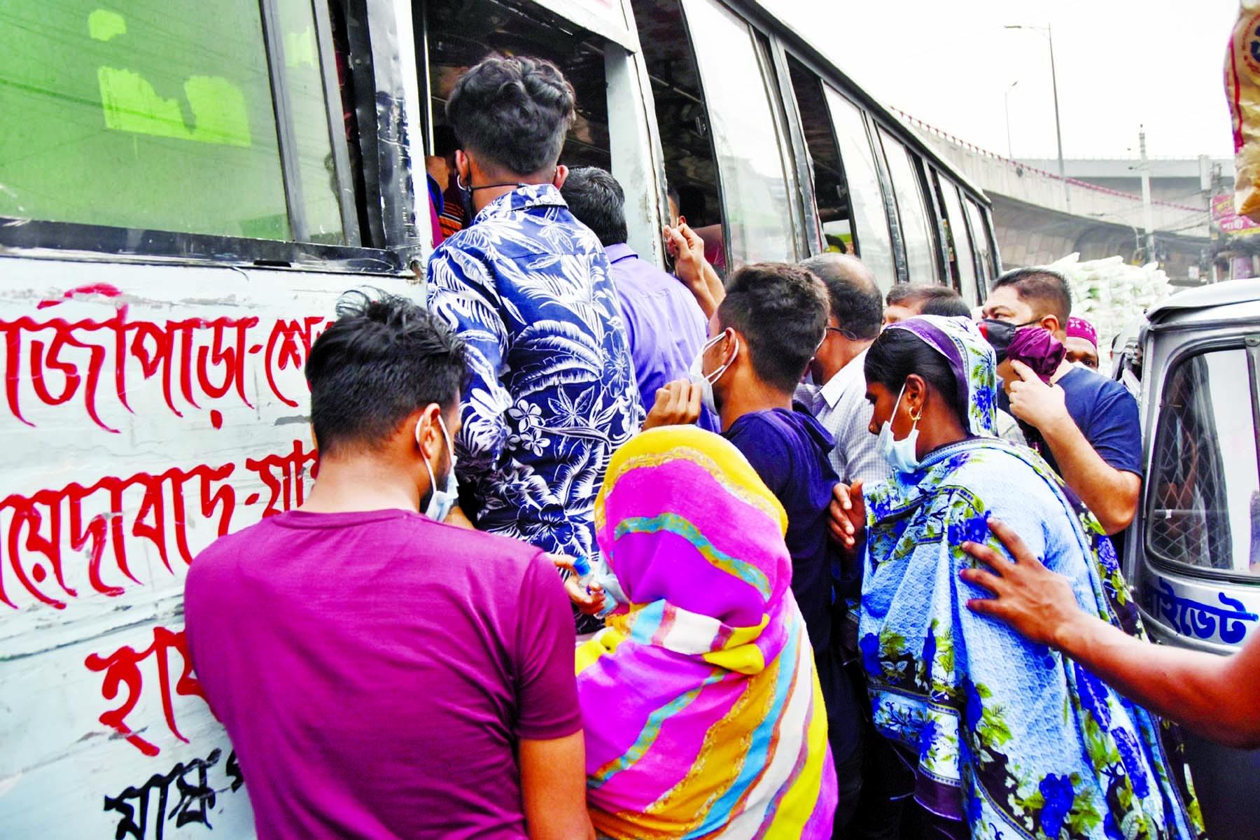 Dhaka roads hum with traffic