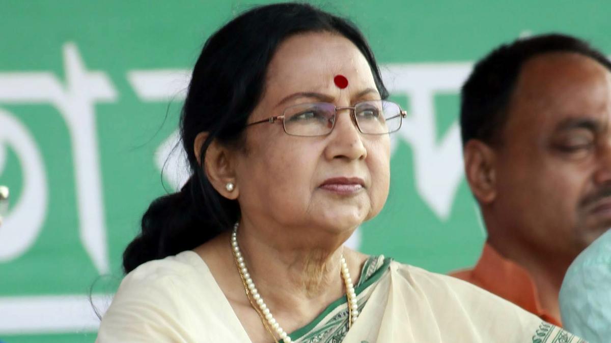 Sandhya Roy hospitalized with COVID symptoms