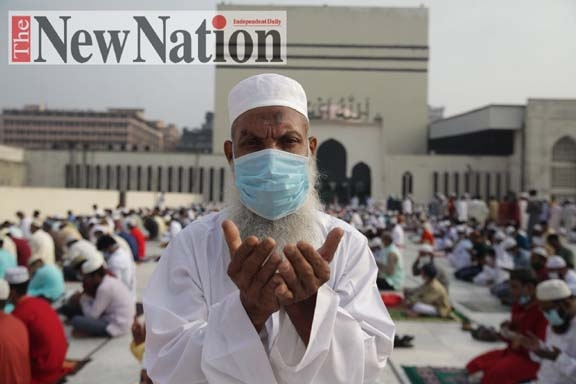 Deliverance from COVID sought in Eid's main congregation