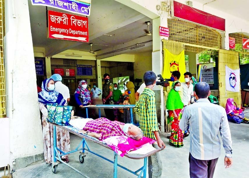 Not only Covid patients, the people who are suffering from other critical diseases cannot get admitted to Rajshahi Medical College Hospital due to shortage of bed.