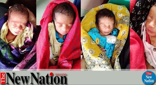 Woman gives birth to quadruplets  in Feni