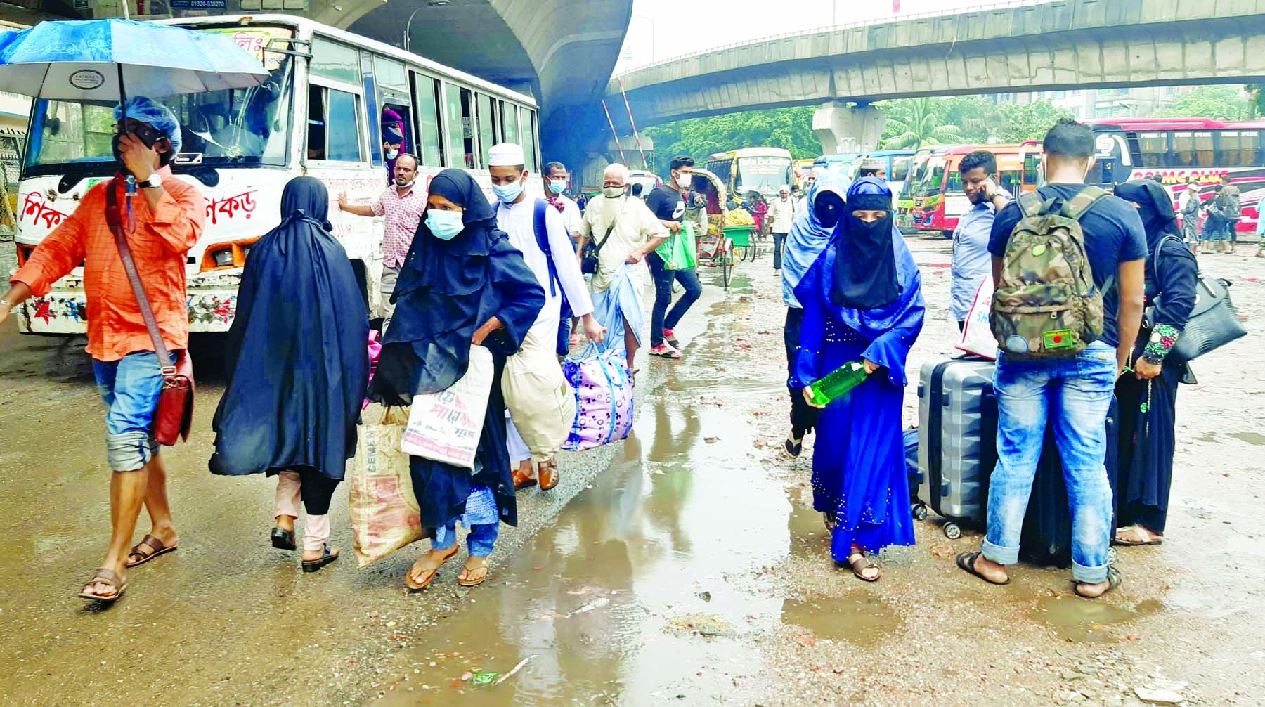 Bus, train, water  transports withheld  People's sufferings know no bounds