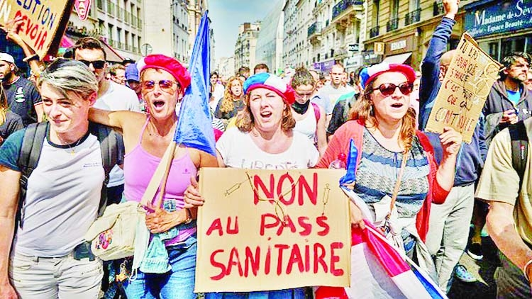 Covid vaccination centres vandalised in France