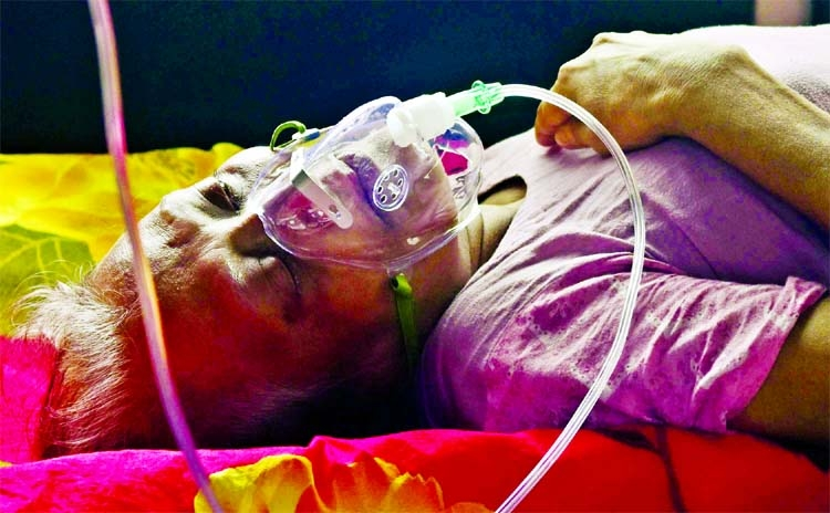 An elderly person was rushed to Dhaka Medical College Hospital from Feni by her relatives after she suffered from respiratory difficulties and showed other coronavirus symptoms.