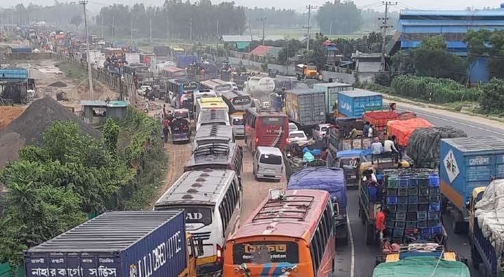 25-km traffic jam on Dhaka-Tangail highway