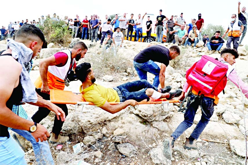 140 Palestinians hurt in confrontations with Israeli forces