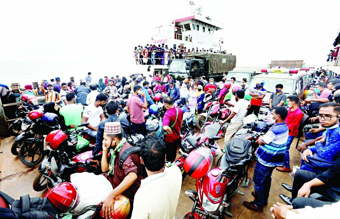 People entering Dhaka despite lockdown