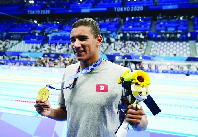 Tunisia's Hafnaoui wins men's 400m freestyle gold