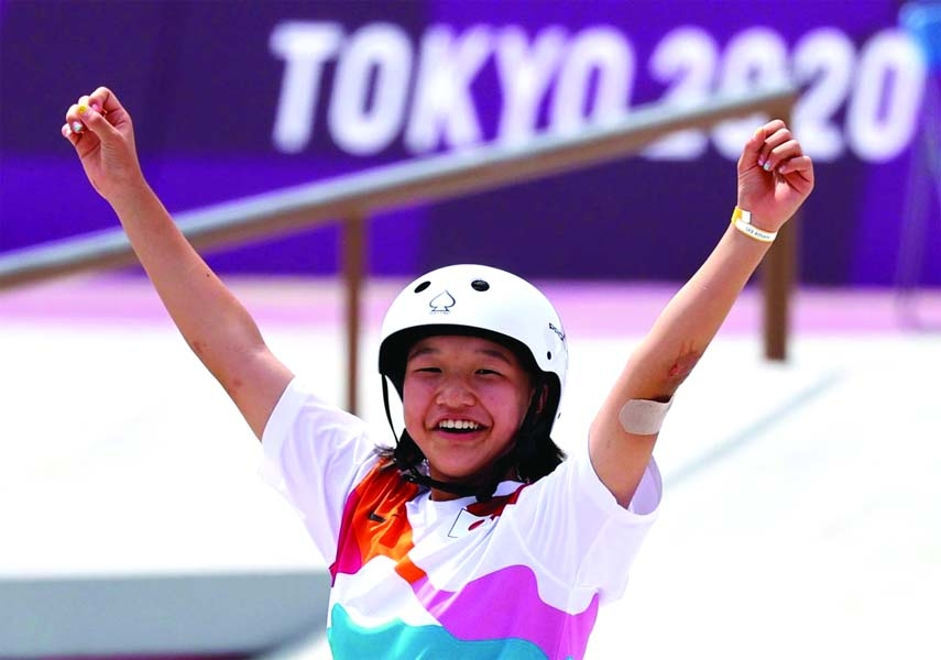 Schoolgirl scoops gold as Japan warm to the Games