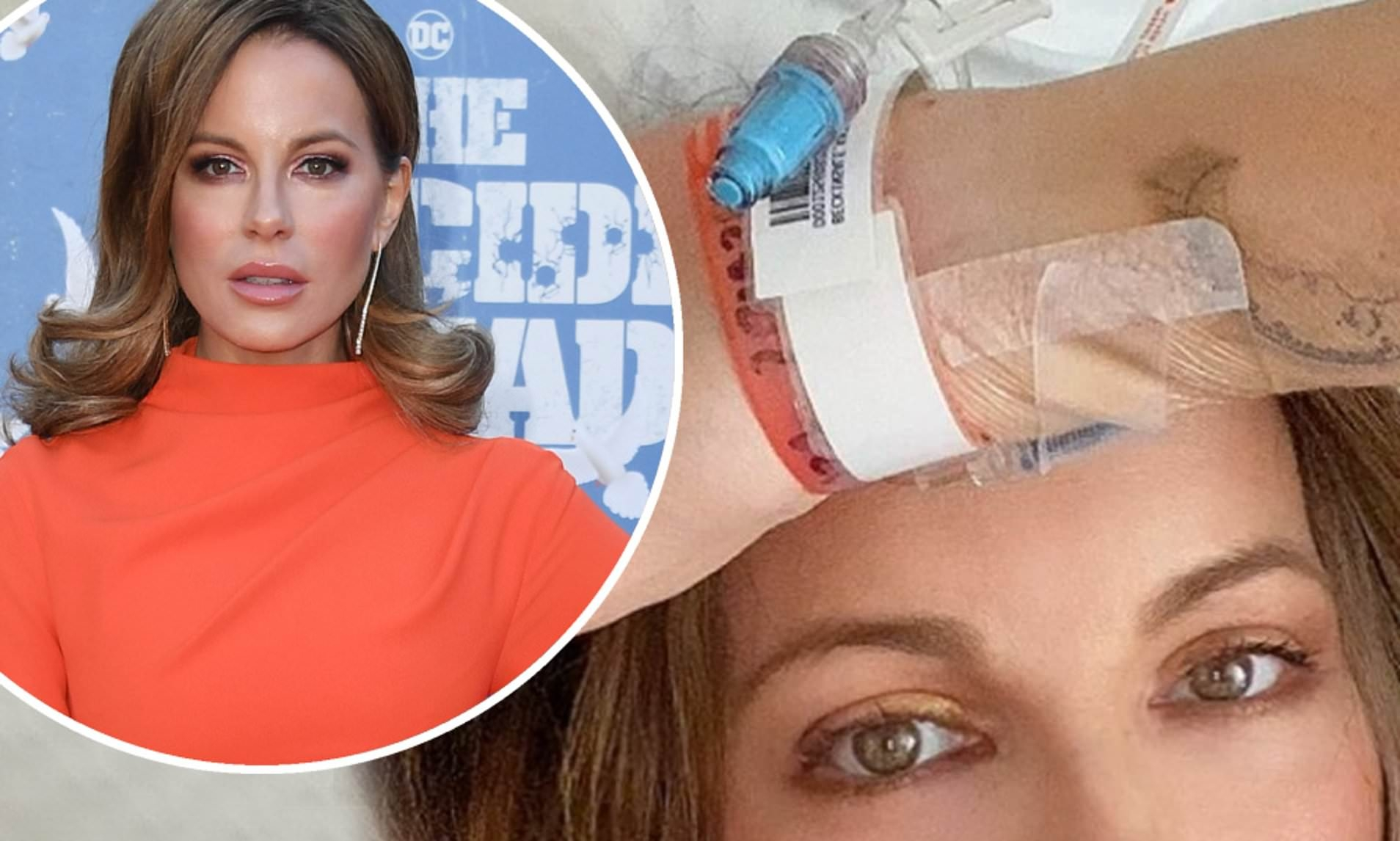 Kate Beckinsale gives health update from hospital bed