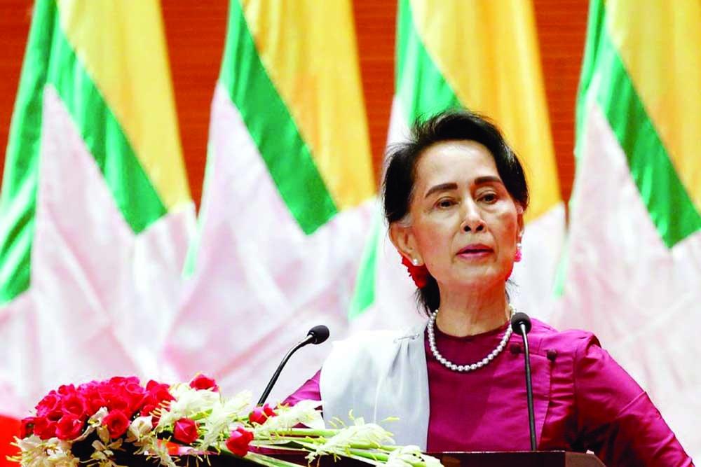 Suu Kyi back to court again