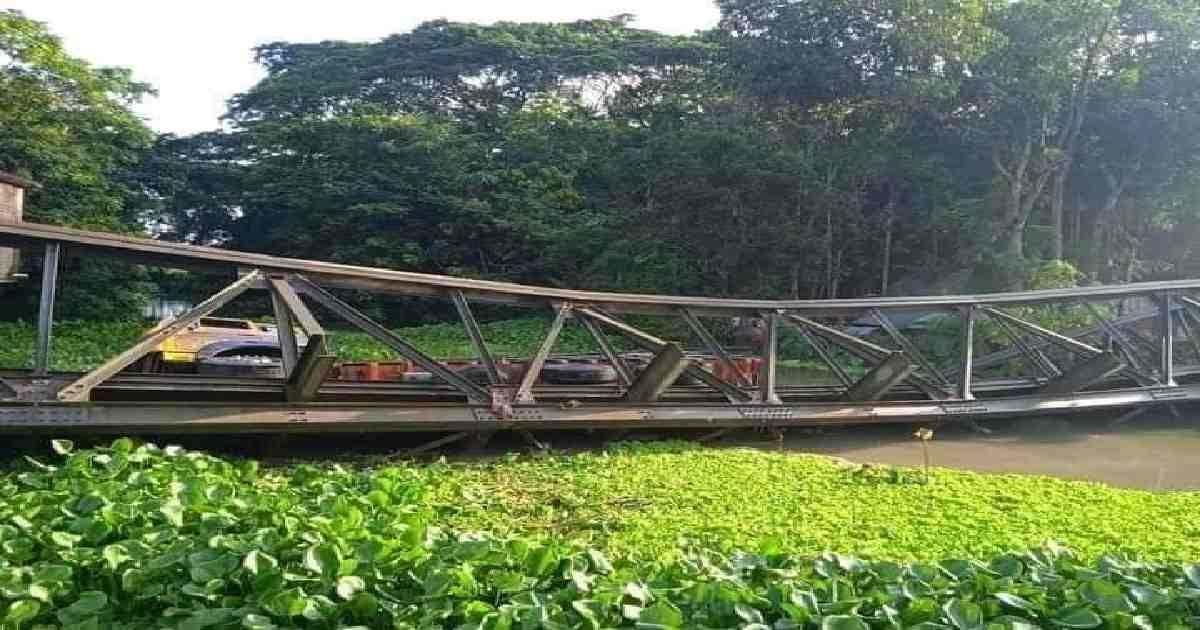 Bailey bridge collapse snaps road link in Barishal
