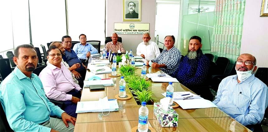 Md Rezaul Karim, Chairman of the Shippers' Council of Bangladesh (SCB), presiding over its 8th Board of Directors meeting at its head office in the capital on Wednesday. Senior Vice Chairman Md Ariful Ahsan, Vice Chairman Md Munir Hossain, Directors  Arzu Rahman Bhuiyan, Kamran Uddin, A K M Aminul Mannan (Khokon), Md Nurussafa Babu, Ziaul Islam, Ganesh Chandra Saha and Ataur Rahman Khan, among others, were present.