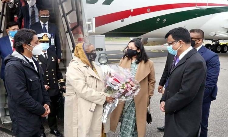 PM reaches in Finland en route to New York to attend UNGA