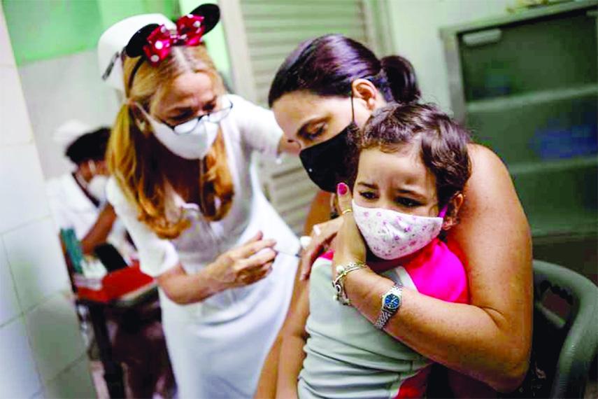 Cuba begins vaccinating children against Covid