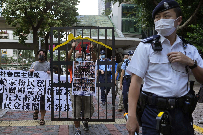 Voters choose new Hong Kong electors under pro-Beijing laws