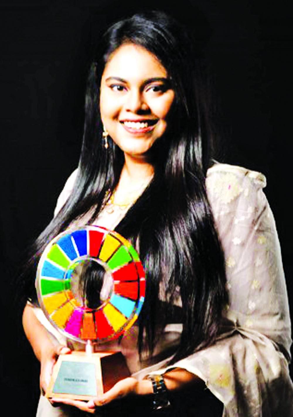 Faizah wins Global Goals Changemaker Award