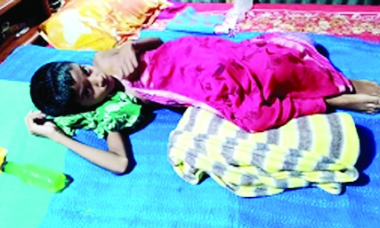 Bhangura schoolgirl suffers from mysterious disease