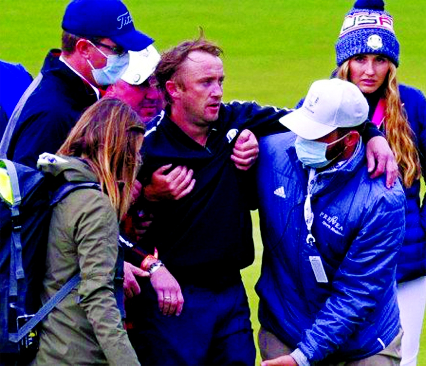 Harry Potter star Tom Felton collapses at celebrity golf match in Wisconsin