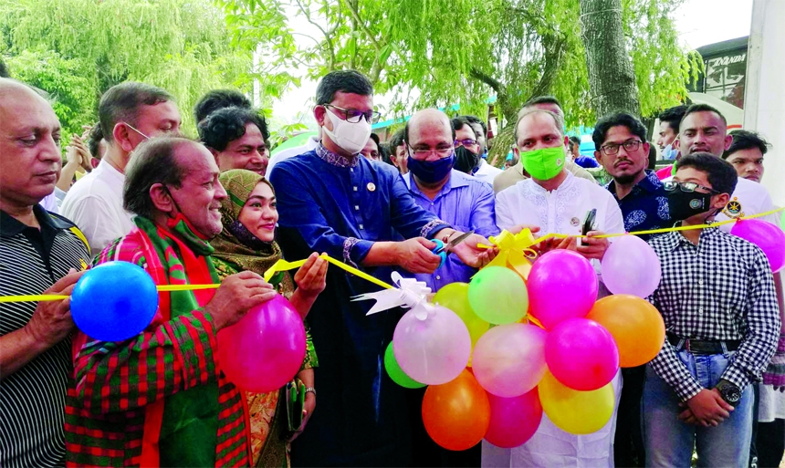State Minister for Shipping Khalid Mahmud Chowdhury inaugurates  a programme on 'Bishwjure Bangabandhu O Bangladesh Utsab' organised by Padakkhep Bangladesh at Cox's Bazar Cultural Center on Friday marking Mujib Year.