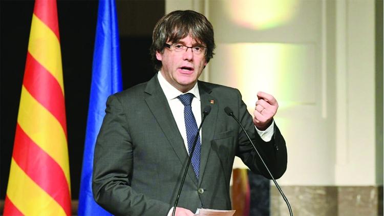 Catalan leader demands Puigdemont's 'immediate release'