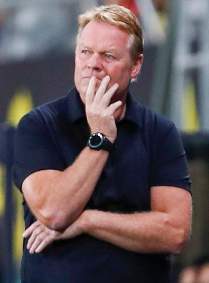 Under-pressure Koeman banned for two matches after red card
