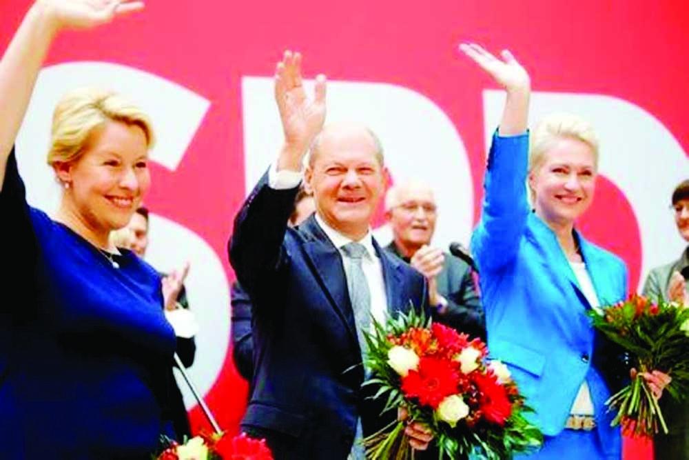 German Social Democrats seek allies to form govt