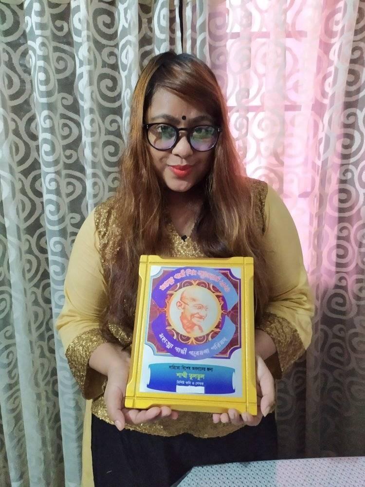Tultul awarded Mohatma  Gandhi peace award