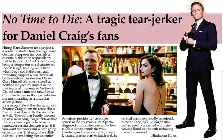 No Time to Die: A tragic tear-jerker for Daniel Craig's fans