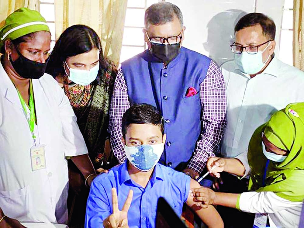 112 students vaccinated under trial run