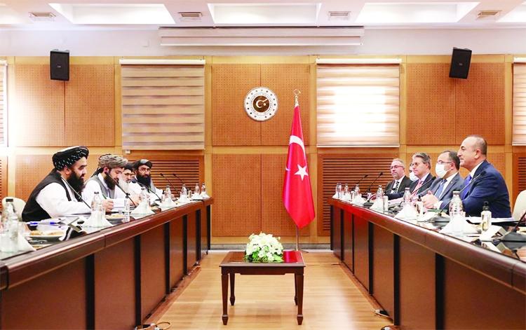 Turkish FM meets Taliban's senior delegation
