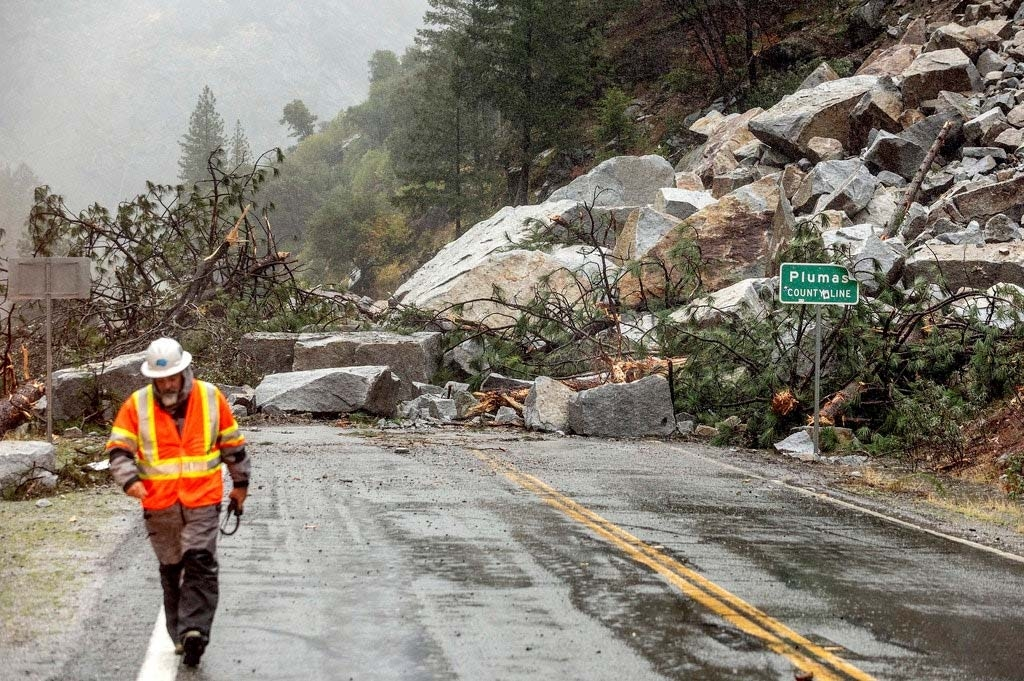 Drought-stricken California doused by major storm