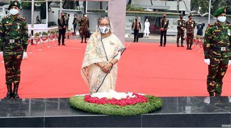 Hasina pays tribute to Bangabandhu on historic March 7